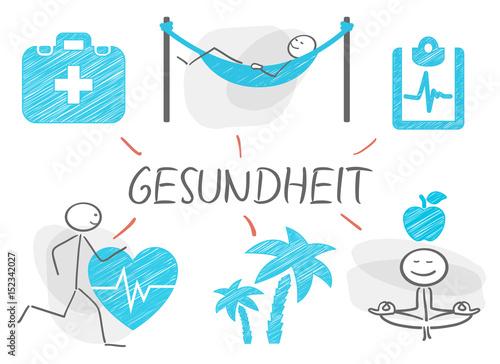 Strichmännchen Gesundheit - 152342027