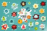 Space Labels Set - 152352015