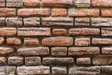 texture of a brick wall close-up