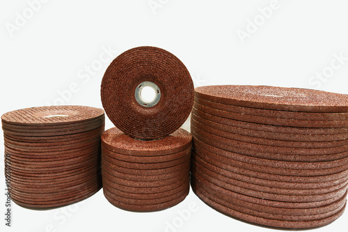 The abrasive discs  stone for metal grinding in industrial steel with Isolated background