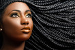 Quadro African female beauty with braided hair.