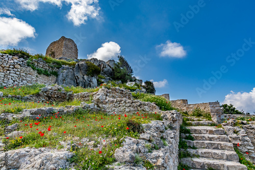 Medieval castle of Kritinia (Kastellos), Rhodes island, Greece