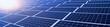 Leinwanddruck Bild - Erneuerbare Energien - Solarmodule im Sonnenschein, Banner