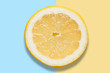 Piece of lemon on colorful background - 152466241