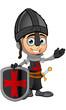 Boy Black Knight Cartoon Character - 152468079