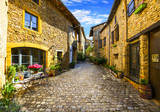 Fototapety Oingt village in Beaujolais land and his small steet
