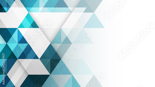 Poster Abstract geometric vector background.