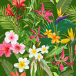 Tropical Seamless Vector Floral Summer Pattern. For Wallpapers, Backgrounds, Textures, Textile, Cards. - 152582823