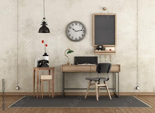 Fototapeta Home workspace in industrial style