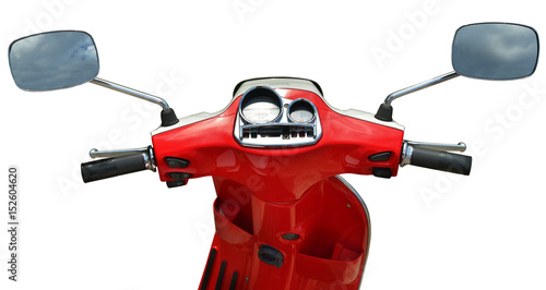Fotobehang Scooter Scooter isolated on white background