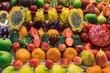 Still life of tropical fruits in the market of Las Palmas de Gran Canaria. Spain.