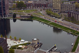 The city of Rotterdam seen from above