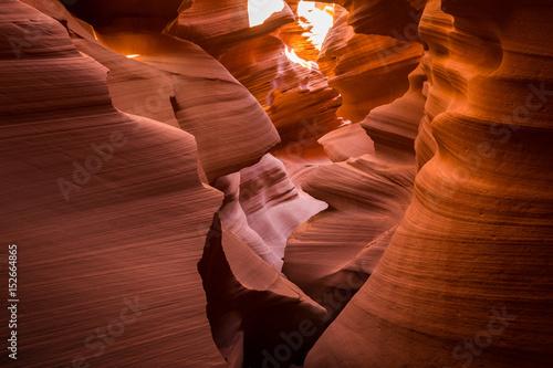 In de dag Bruin Antelope Canyon, Arizona, USA