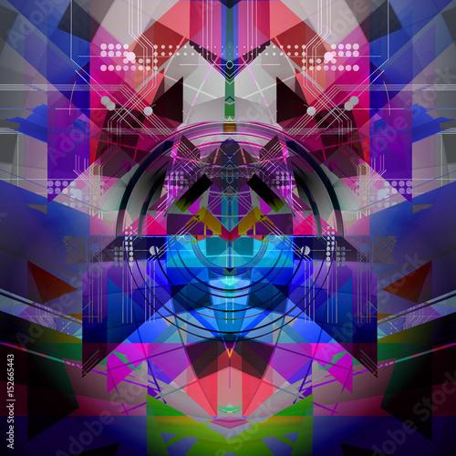 Aluminium Reznik Абстрактные технологии шаблон иллюстрации