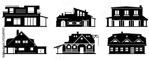 Silhouette Häuser © SimpLine