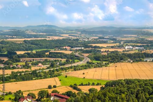 Poster Krajobraz wiejski widziany z góry