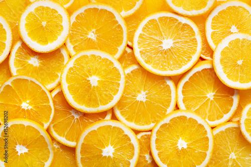 Foto Murales orange slices background