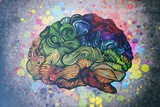Brain doodle illustration with textures - 152722646