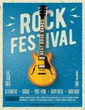 Rock music festival flyer. Vector illustration. - 152729084