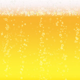 Beer Foam Background. Light Bright, Bubble And Liquid. Vector Illustration - 152752634