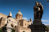 PALERMO, ITALY - October 14, 2009: the cathedral church of the Roman Catholic of Palermo, Sicily, Italy