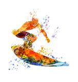 Vector color illustration surfer - 152775267