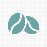 Coffee beans icon  stock vector illustration flat design