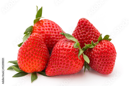 Strawberry isolated on white background. Fresh berry.