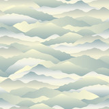 Abstract wave seamless pattern. Mountain skyline background. Landscape texture - 152846282