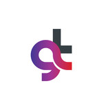 Initial Letter GT Rounded Lowercase Logo