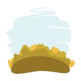 backroung sepia design of forest landscape with blue sky vector illustration