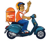 delivery man with scooter