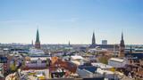 Copenhagen city skyline in Copenhagen, Denmark