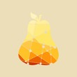 Multicolor illustration of a pear. Vector illustration. Mosaic style silhouette - 152942426