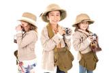 Kids in safari clothes - 152991827