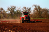 Soil preparation with a tractor