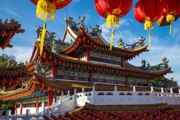 KUALA LUMPUR, MALAYSIA - 22TH JANUARY 2017: Traditional Chinese lanterns display during Chinese new year festival at Thean Hou Temple in Kuala Lumpur, Malaysia