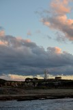 Lighthouse on cloudy sky backgound. Pathos, Cyprus