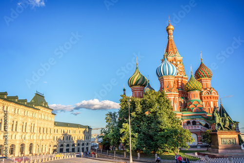 St Basil's cathedral on Red Square, Moscow, Russia Poster