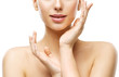 Skin Care Beauty, Woman Face Lips and Hands Skincare, Natural Clean Makeup - 153029654