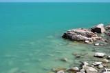 Balkhash lake, central Kazakhstan.Near Priozersk - former Soviet  anti-ballistic missile testing range Sary Shagan - 153082490