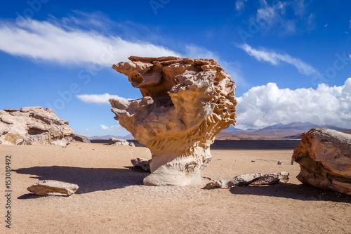 Arbol de Piedra in Siloli desert, sud Lipez reserva, Bolivia Poster