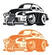 Vector cartoon retro car. Available EPS-8 separated by groups and layers - 153092655
