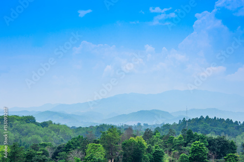 mountain and countryside landscape view in asia