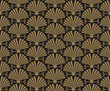 art deco, wallpaper pattern, vector  - 153111076