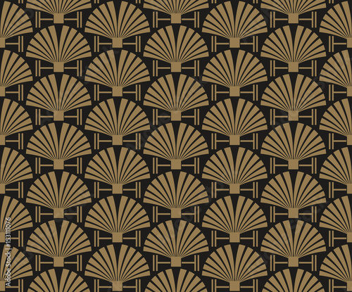 art deco, wallpaper pattern, vector  - 153111076