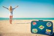 Happy woman having fun on summer vacation