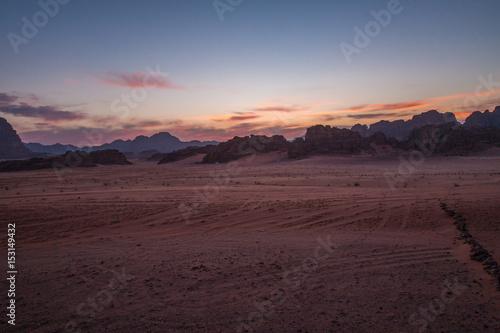 Poster Desert Sunset