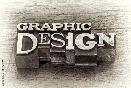Fototapeta graphic design word abstract in metal type