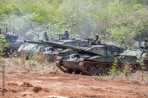 Real ammunition maneuver by using the commando stingray light tank was exported for use by armed forces of Thailand Poster
